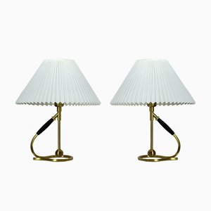 Danish 306 Versatile Brass Table Lamps by Kaare Klint for Le Klint, 1980s, Set of 2