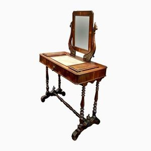 Antique Walnut Dressing Table, 1890s