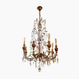 Lámpara de araña estilo Luis XVI vintage, años 60