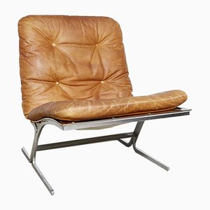 Mid-Century Leather Lounge Chair, 1960s
