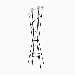 French Brass and Iron Coat Rack by Roger Feraud for Geo, 1950s
