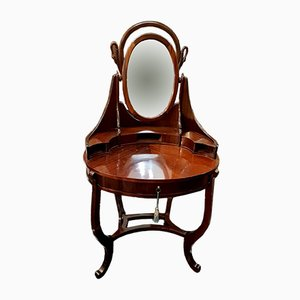 Antique Regency Italian Mahogany Dressing Table, 1860s