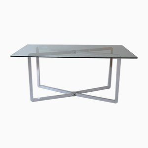 French Anodized Aluminum Dining Table by Michel Boyer for Rouve, 1970s