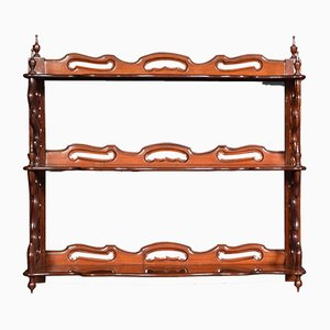 Antique Victorian Mahogany Shelves