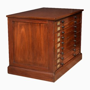 Antique Mahogany Filing Chest, Set of 2