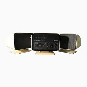 Calypso de Luxe Stereo 8 Radio Uhr mit Lautsprechern von Browni, 1960er