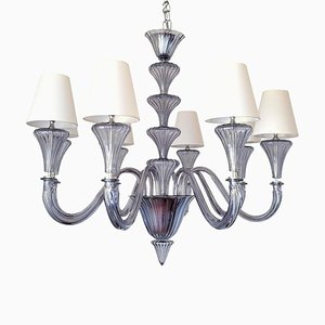 Murano Glass Chandelier by Ercole Barovier for Barovier & Toso, 1970s