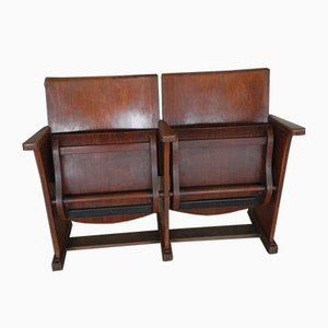 Mid-Century Italian Beech and Iron Bench, 1950s
