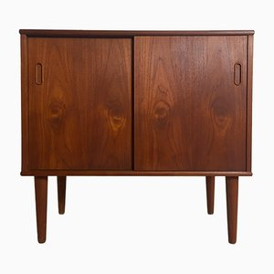 Danish Brass and Teak Cabinet, 1960s
