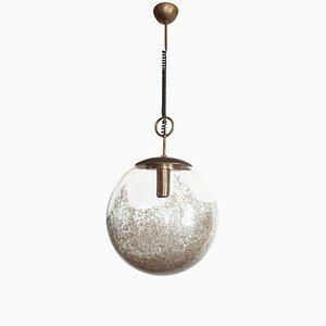 Lámpara colgante Mid-Century moderna de cristal de Murano de Carlo Nason para Mazzega