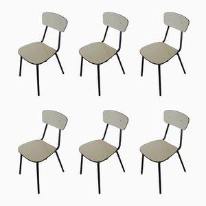 Italienische Vintage Esszimmerstühle aus Resopal, 1970er, 6er Set
