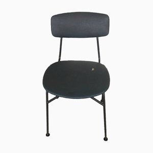 Mid-Century Italian Iron and Leatherette Desk Chair, 1950s