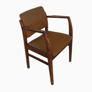 Italian Beech and Textile Lounge Chair, 1970s