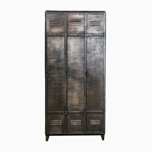 Mid-Century Industrial French Iron Locker, 1950s