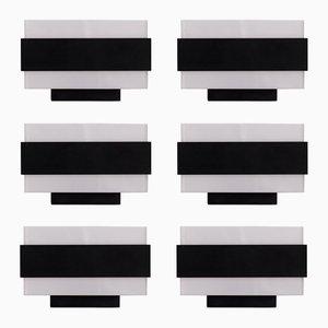Apliques de pared holandeses arquitectónicos de Philips, años 60. Juego de 6