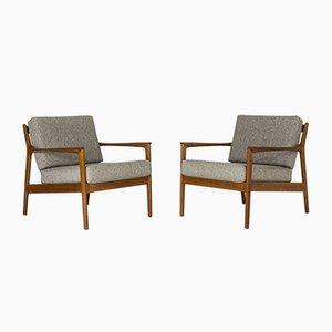 USA 75 Sessel aus Teakholz von Folke Ohlsson für Dux, 1963, 2er Set