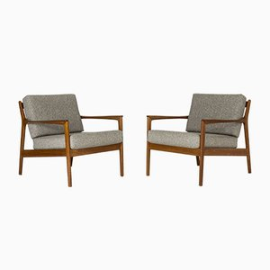 USA 75 Teak Lounge Chairs by Folke Ohlsson for Dux, 1963, Set of 2