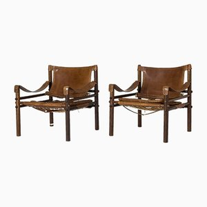 Sirocco Rosewood Lounge Chairs by Arne Norell for Arne Norell AB, 1960s, Set of 2