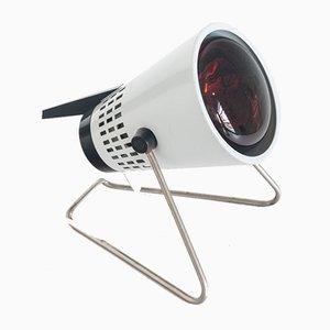 Deutsche industrielle verchromte Wandlampe aus Eisen von Solilux, 1970er