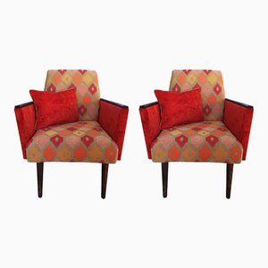 Mid-Century German Lounge Armchairs, 1970s, Set of 2