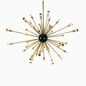 Lámpara de araña Sputnik vintage de Stilnovo, años 50