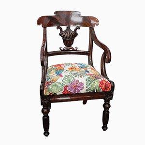 Antiker Armlehnstuhl aus Mahagoni, 1845