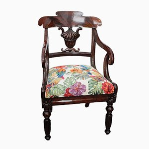 Antique Mahogany Armchair, 1845