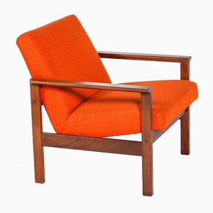 Mid-Century Danish Rosewood and Wool Armchair, 1960s