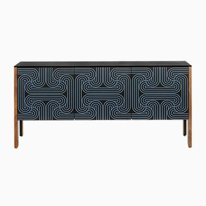 Blue 3 Door Loop Sideboard by Coucou Manou