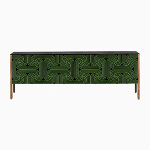 Green Four Door Loop Sideboard by Coucou Manou