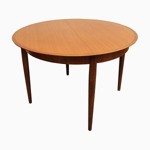 German Round Extendable Teak Dining Table from Lübke, 1960s