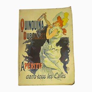 Antikes Quinchina Dubonnet Werbeposter von Jules Chéret