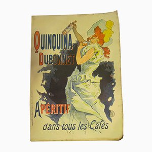 Antique Quinquina Dubonnet Advertising Poster by Jules Chéret