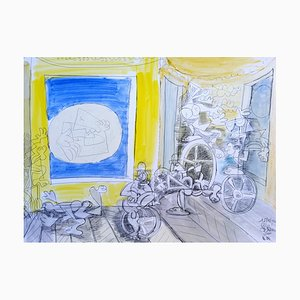 Pleine Lune Drawing by Gérard Blain, 2014