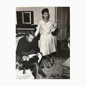 Steve McQueen. En Couple. Le Script Photographie par George Barris, 1962