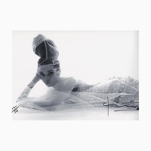 Audrey Hepburn Laying Down Photograph by Bert Stern, 2007
