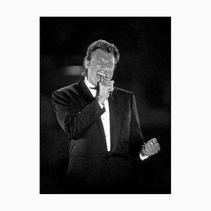Johnny Hallyday. Sur scène à Paris. Le 2 Janvier 1991. Photograph by Francis Apesteguy, 2016