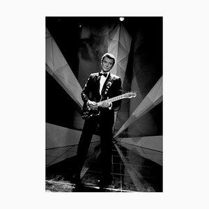 Johnny Hallyday. Sur scène à Milan. 10 Février 1986. Photograph by Francis Apesteguy, 2016