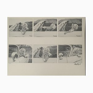 Car Montage Photolithograph by George Barris, 1987