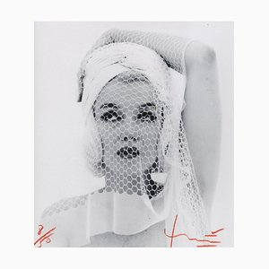 Marilyn Looking up in the Wedding Veil Photograph by Bert Stern, 2012