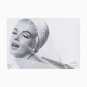 Marilyn in the Wedding Veil Photograph by Bert Stern, 2012