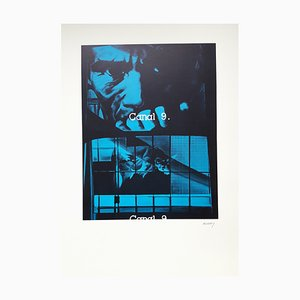 Monig Canal91000 Lithografie von Jacques Monory, 1980er