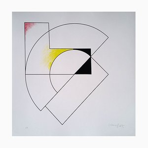 Composition géométrique Screen Print in Red, Yellow, & Black by Gottfried Honegger, 2015