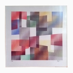Geometric 3 Agam Screen Print by Yaacov Agam, 1975