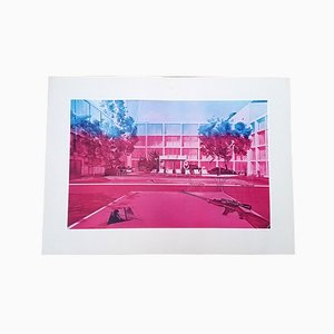 Hotel Fusil Lithograph by Jacques Monory, 1980