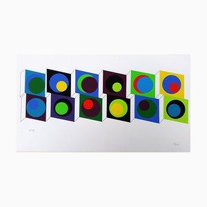 Claisse 20 Composition Géométrique. Siebdruck von Geneviève Claisse, 2014