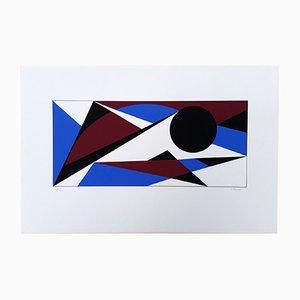 Claisse 21 Composition Géométrique. Screen Print by Geneviève Claisse, 2014