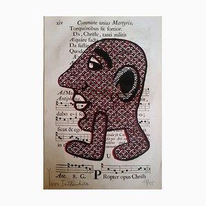 Capitipède Rouge Screen Print by Yvon Taillandier, 2015