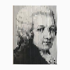 Sérigraphie Portrait de Mozart par Jean-Pierre Vasarely, 1989
