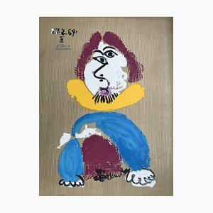 Portrait 3 nach Pablo Picasso Lithografie von Marcel Salinas, 1969